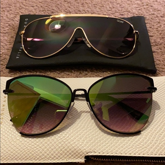 2 for 1! Never worn pairs of Quay Sunglasses.
